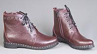 Женские ботинки на невысоком каблуке