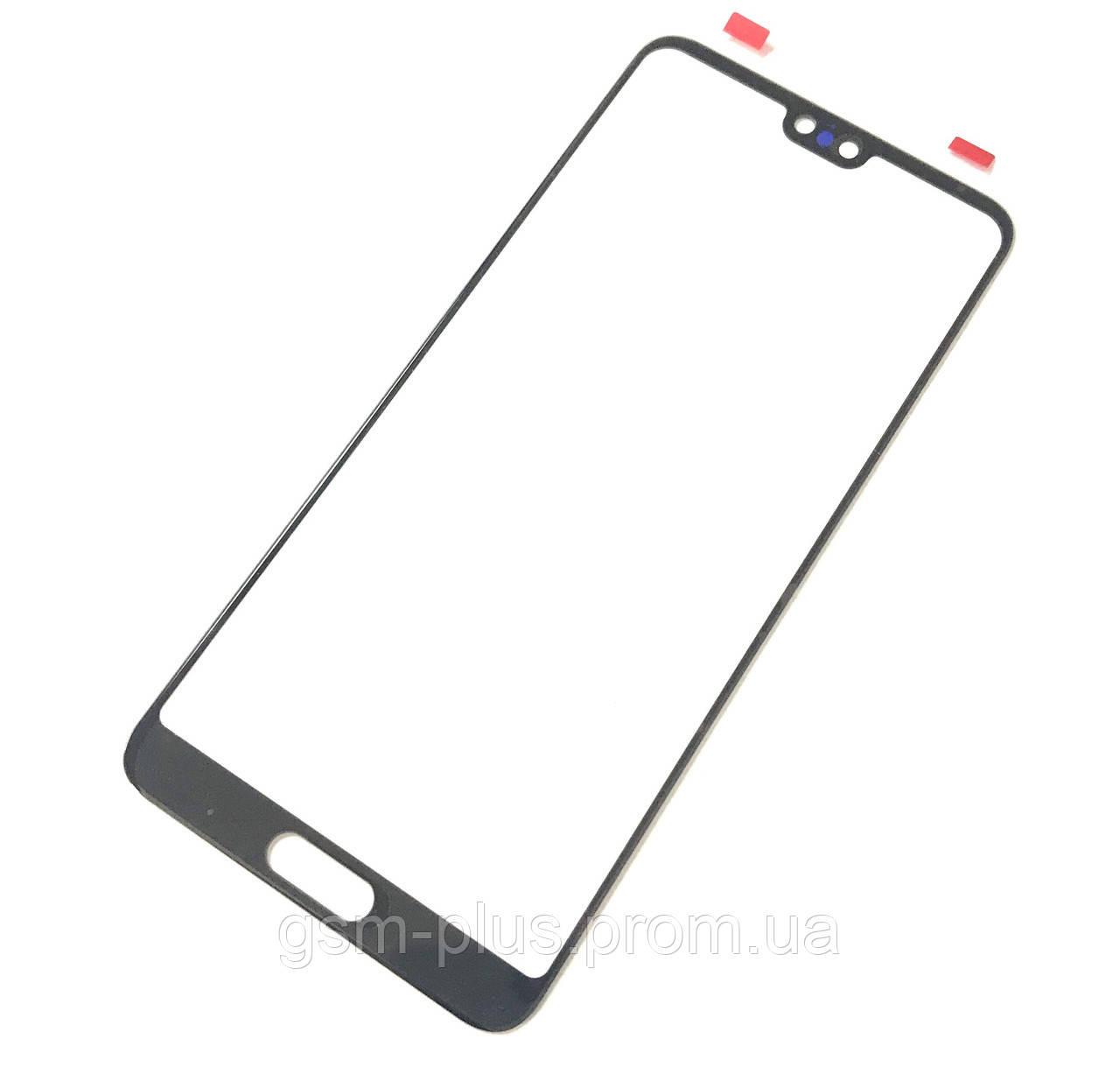 Стекло дисплея Huawei P20 (E ml-L09) Black (для переклейки)