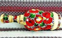 Пляшка розписна сувенірна (Авторская работа, петриковская роспись по дереву, бутылка расписная, 32см)