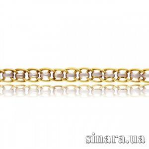 Золотой браслет Нонна со вставкой из белого золота  6123