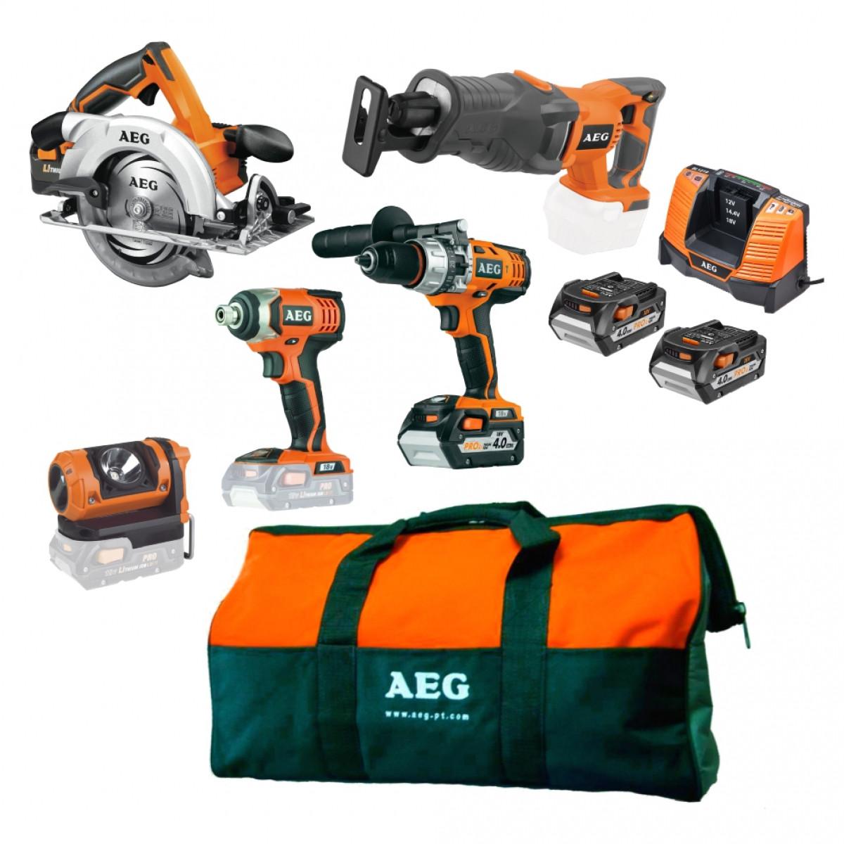 Набор аккумуляторного инструмента AEG JP185ALI402B