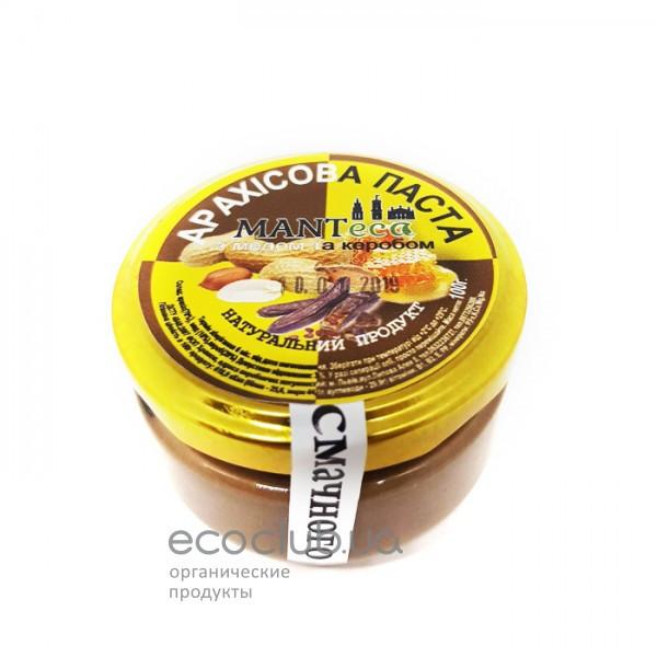Паста арахисовая с медом и кэробом стекло ТМ Manteca 100г