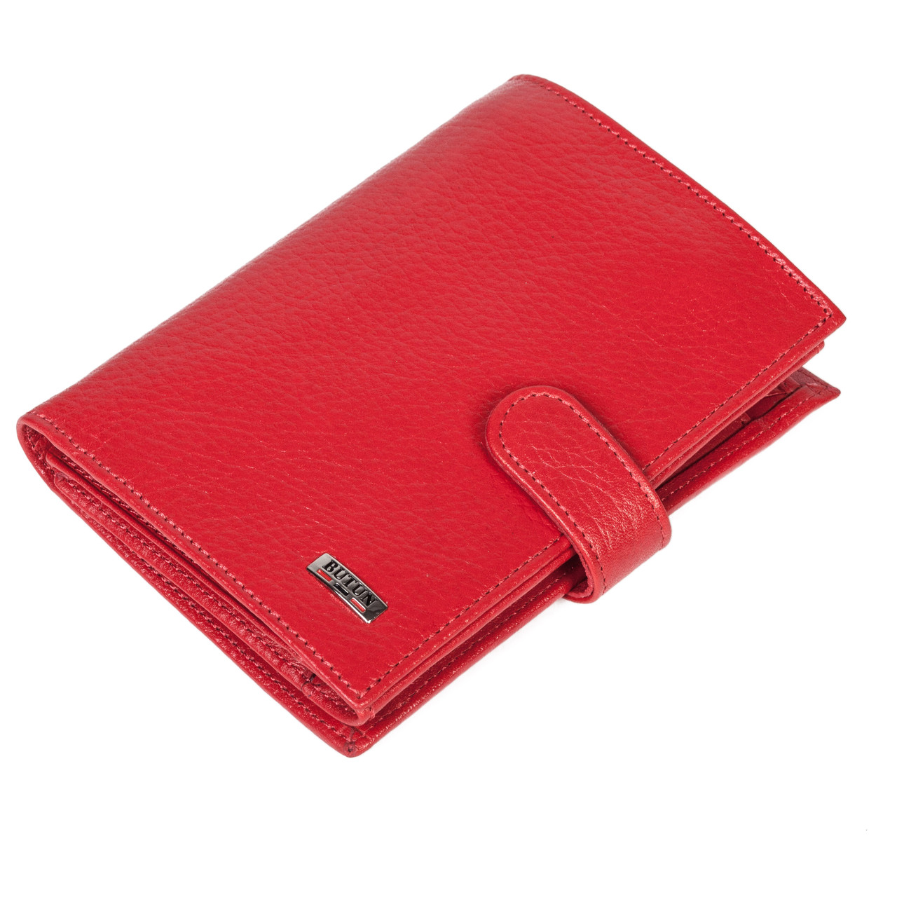 Женский кошелек Butun 186-004-006 кожаный красный