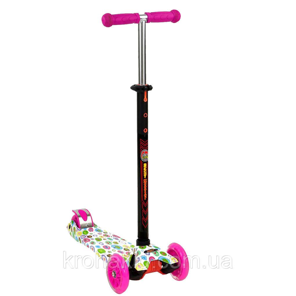 """Самокат MAXI """"Best Scooter"""" А 24641 /779-1400  колеса PU- диаметр 12 см, трубка руля алюминиевая"""