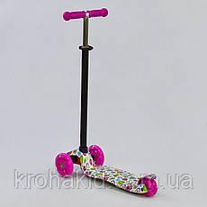 """Самокат MAXI """"Best Scooter"""" А 24641 /779-1400  колеса PU- диаметр 12 см, трубка руля алюминиевая, фото 2"""