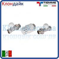 Кран радиаторный с термоголовкой прямой комплект TIEMME 3/4'