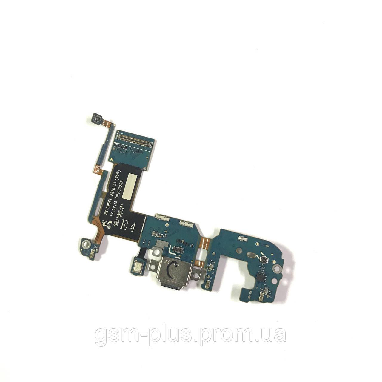 Разъем зарядки Samsung G955 Galaxy S8 Plus complete with flat and mic Original
