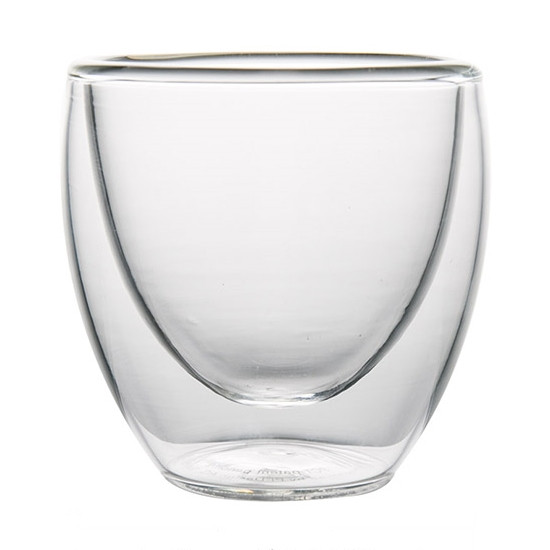 Стеклянный стакан с двойными стенками, 80 мл