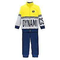 Спортивный костюм для мальчика  BRUMS  191BFEP002-420 синий с желтым 164