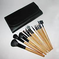 Набор кистей для макияжа 16 штук в чехле, фото 1