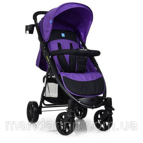 Детская прогулочная коляска книжка M 3409-3-9 черно-фиолетовая