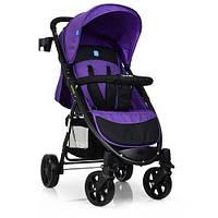 Детская прогулочная коляска книжка M 3409-3-9 черно-фиолетовая, фото 1