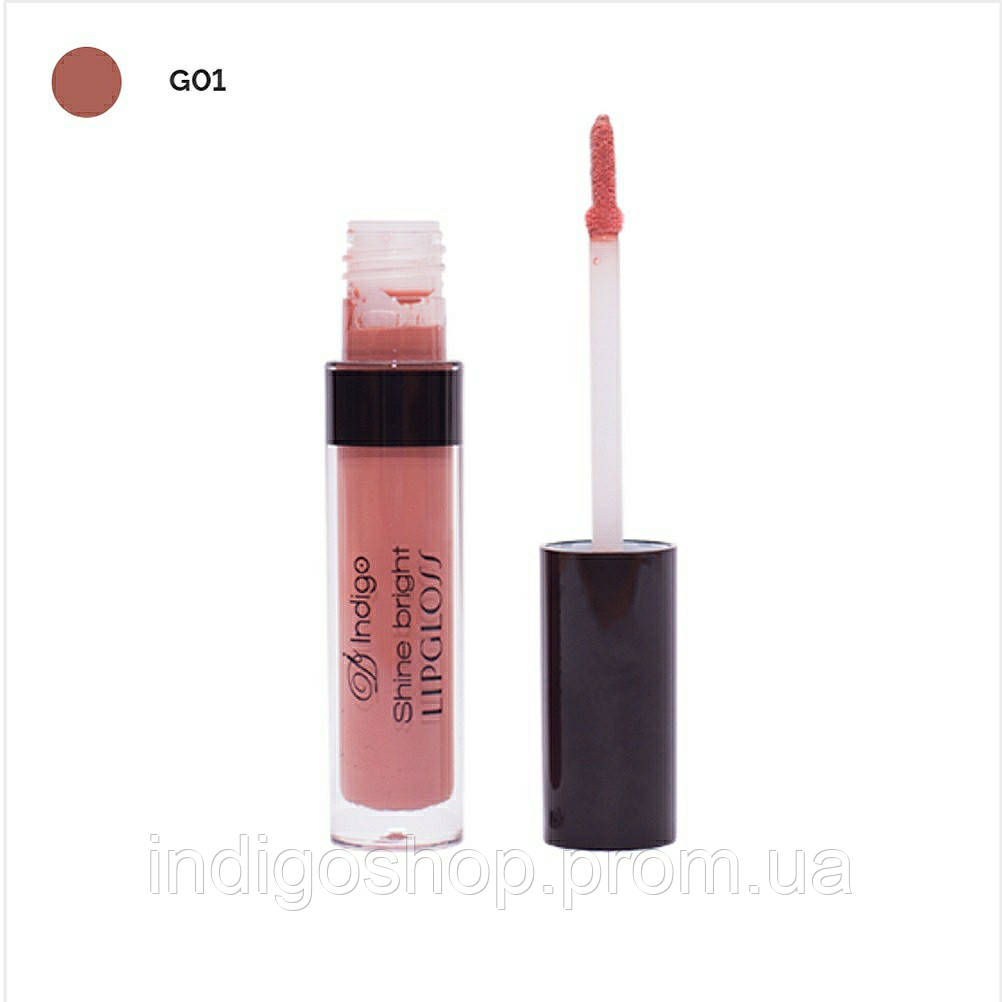 Блеск для губ      Shine Bright Lipgloss IndigoDi (4 гр)  Цвет 01