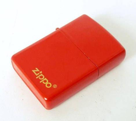 Зажигалка ZIPPO Бензиновая (красная), фото 3
