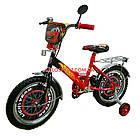 Детский велосипед Mustang Тачки 18 дюймов черно-красный, фото 2
