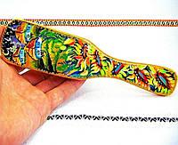 Интересный подарок: расческа для волос, ручная работа, авторская художественная роспись по дереву
