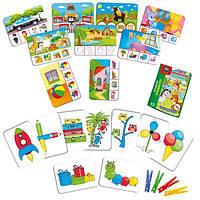 Игра с прищепками «Внимательный малыш», Vladi Toys, VT5303-12