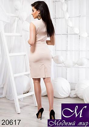 Женское короткое бежевое платье (р. S, M, L) арт. 20617, фото 2
