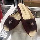 Брендовые женские замшевые тапочки, фото 5