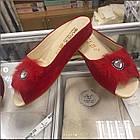 Брендовые женские замшевые тапочки, фото 6