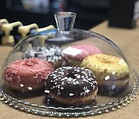 Блюдо Patisserie Ø32см с бортом и со стеклянной крышкой-колпаком (95198)