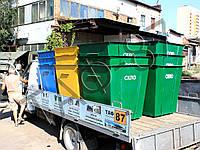 Контейнера для раздельного сбора мусора (ТБО, ПЭТ, СТЕКЛО)