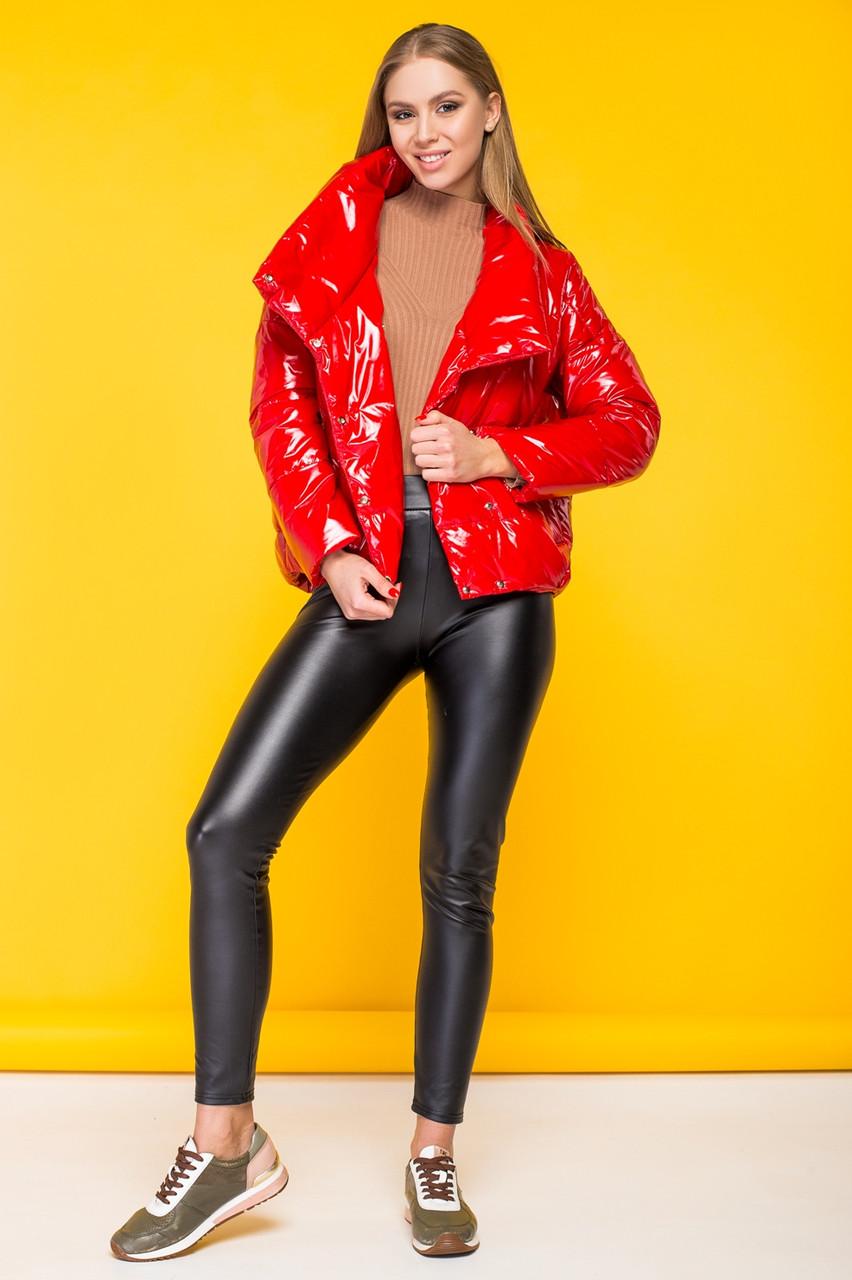 7be04108346 Стильная женская демисезонная куртка в стиле candy KTL-295 - алая -  Коллекция Kattaleya Весна