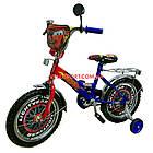 Детский велосипед Mustang Тачки 18 дюймов сине-красный, фото 2