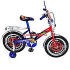 Детский велосипед Mustang Тачки 18 дюймов сине-красный, фото 3