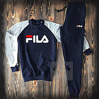 Спортивный костюм Fila серо синего цвета