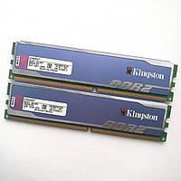 Игровая оперативная память Kingston DDR2 4Gb (2Gb+2Gb) KIT of 2 800MHz PC2 6400U CL5 (KHX6400D2B1K2/4G) Б/У
