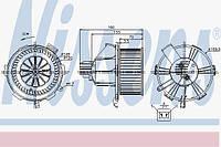 Вентилятор печки опель Зафира Б, opel Zafira B D8087