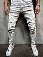 Мужские джинсы белые с манжетами