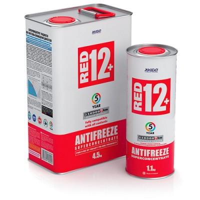 Антифриз Red 12+ (суперконцентрат) ХАДО   (ж/б  4,5 кг)