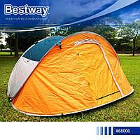 Палатка туристическая четырехместная Bestway 68006 Nucamp Высокое качество, фото 1