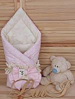 """Демисезонный конверт-одеяло """"Забава"""", розовый/кремовый"""