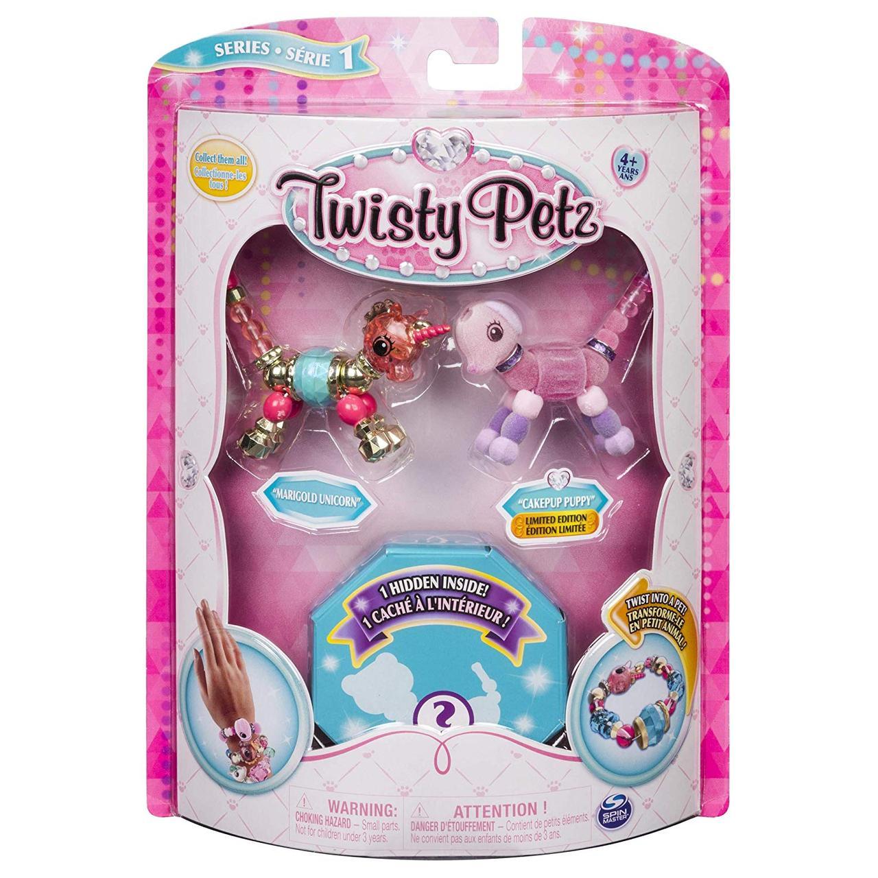 Twisty Petz Набор Твисти Петс Единорог Мариголд и Щенок Пупсик + коллекционная фигурка игрушка для девочек