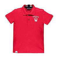 Рубашка поло для мальчика BRUMS  191BFEP002-420 красная  152-170