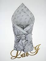 """Демисезонный конверт-одеяло """"Забава"""", серый/белый, фото 1"""