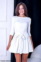 Романтичное платье с расклешенной юбкой  и завязками на талии Lablab