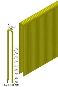 Скоба каркасная (столярная) Prebena типа 30мм (2,4 тис. шт.), 5,7х1,0х1,25мм, E-30 x 2,4