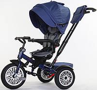 Велосипед трехколесный SpeedRider с надувными колесами (синий). Вес 12.8 кг (83х50.5х105.5)