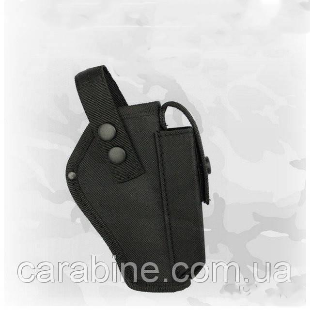 Кобура на пояс для Форт 17, с чехлом для магазина, черная, ткань Оксфорд (код 034)