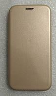 Чохол книжка LEVEL (Kira)  Meizu M6T Gold