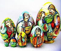 Эксклюзивный подарок Пасхальное яйцо-матрешка, ручная работа, авторская роспись, высота 16.5 см диаметр 10.5см