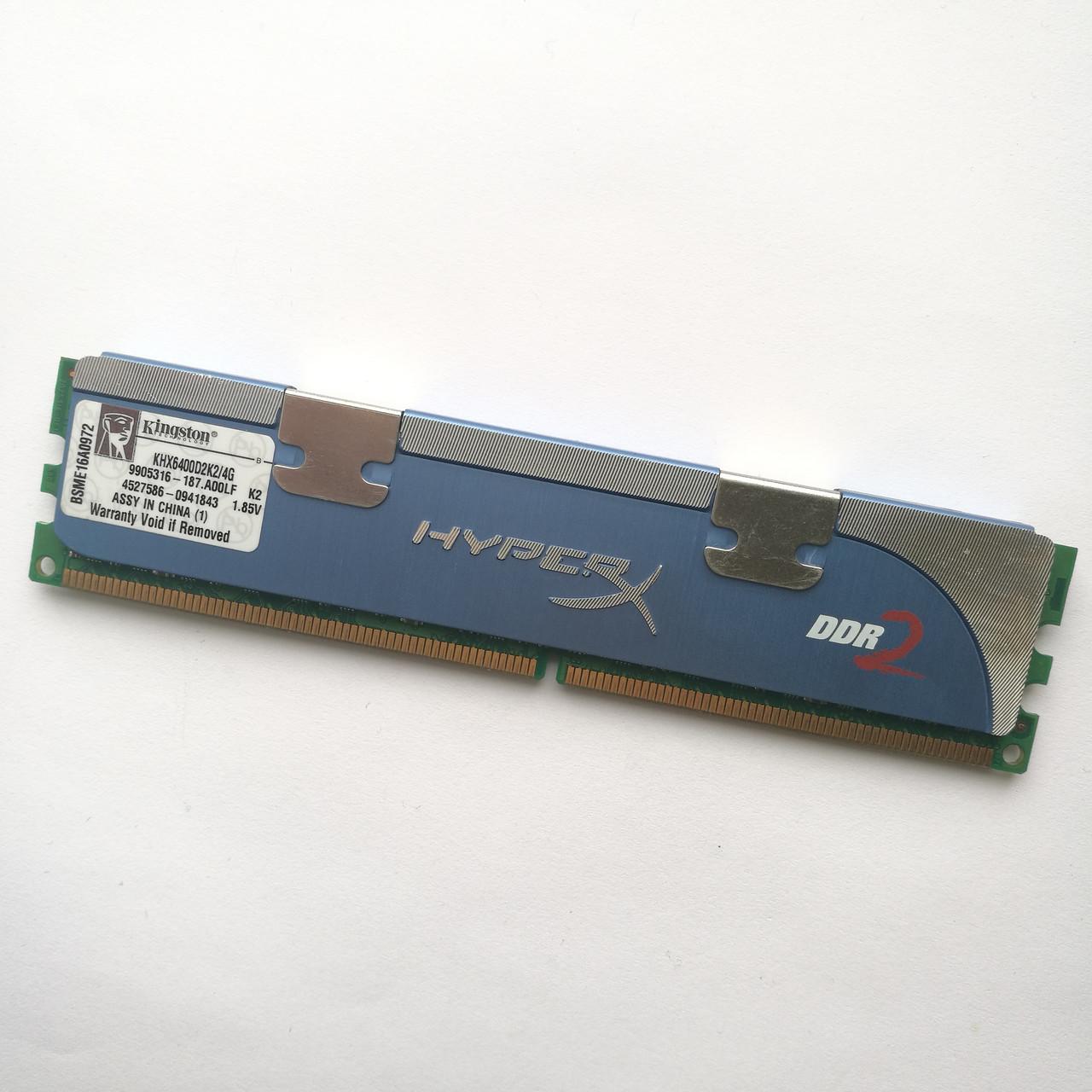 Игровая оперативная память Kingston DDR2 2Gb 667MHz PC2 5300U CL5 1.85V (KHX6400D2K2/4G) Б/У