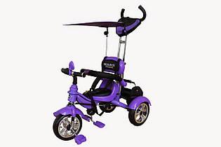 Велосипед трехколесный Mars Trike надувные колеса (фиолетовый). Вес 9 кг (86х50х100 см)