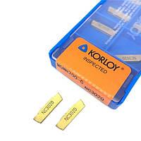 Токарные пластины отрезные MGMN200-G NC3020 (толщина пластины 2 мм, длина - 16 мм), Korloy Корея