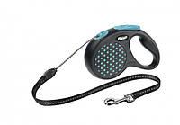 Рулетка Flexi design S 5м трос для маленьких собак до 12 кг