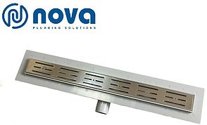 Душовий канал з решіткою з нержавіючої сталі з майданчиком під керамічну плитку NOVA 5201 (400 мм х 65 мм), фото 2